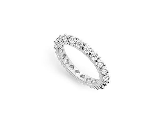 Cubic Zirconia Eternity Band  .925 Sterling Silver - 1.50 CT TGW