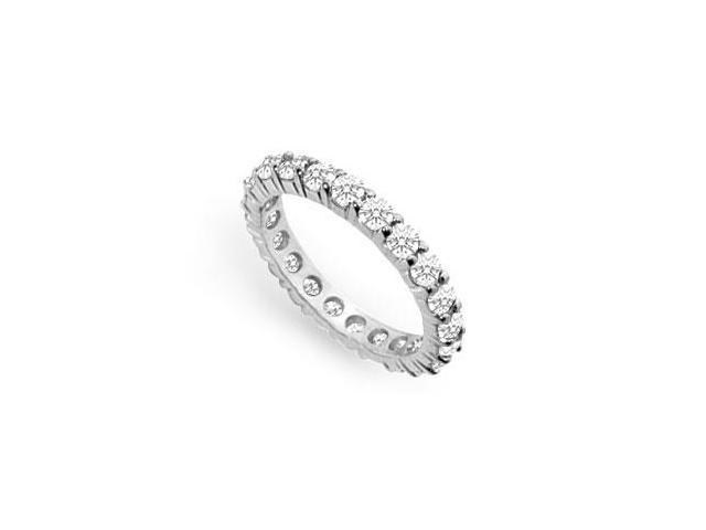 Cubic Zirconia Eternity Band  .925 Sterling Silver - 2.00 CT TGW