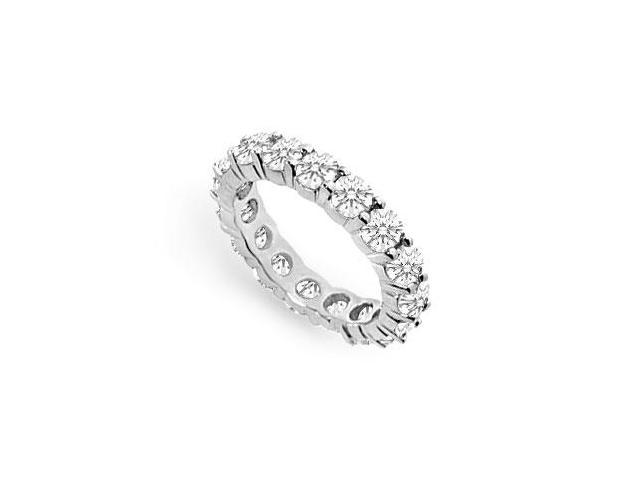 Cubic Zirconia Eternity Band  .925 Sterling Silver - 3.00 CT TGW