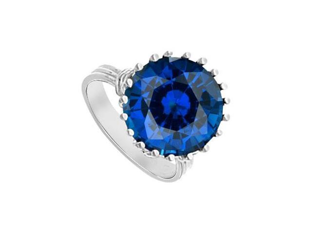 Diffuse Sapphire Fashion Mounting Solitaire Ring 14K White Gold 1.00 Carat Total Gem Weight