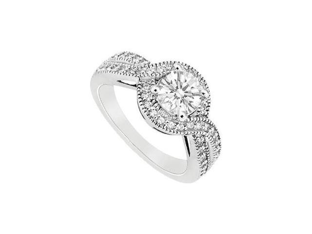 Cubic Zirconia Engagement Ring 14K White Gold 2.50 CT TGW