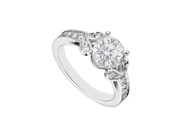 Sterling Silver Cubic Zirconia Engagement Ring 4.00 CT TGW