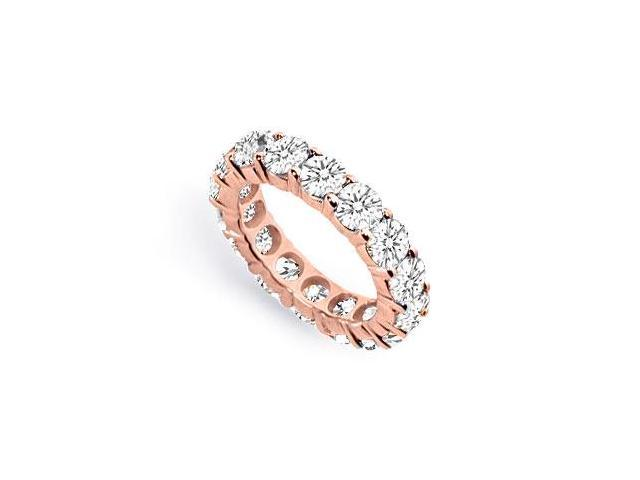 Cubic Zirconia Eternity Band in 14K Rose Gold Vermeil 8 CT. TGW