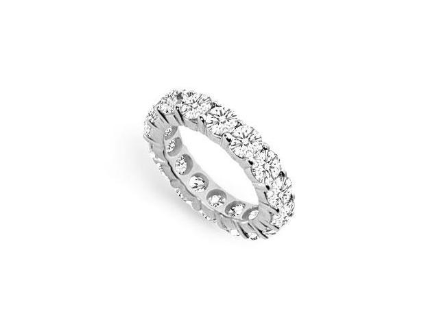Seven Carat CZ Eternity Bands in 925 Sterling Silver