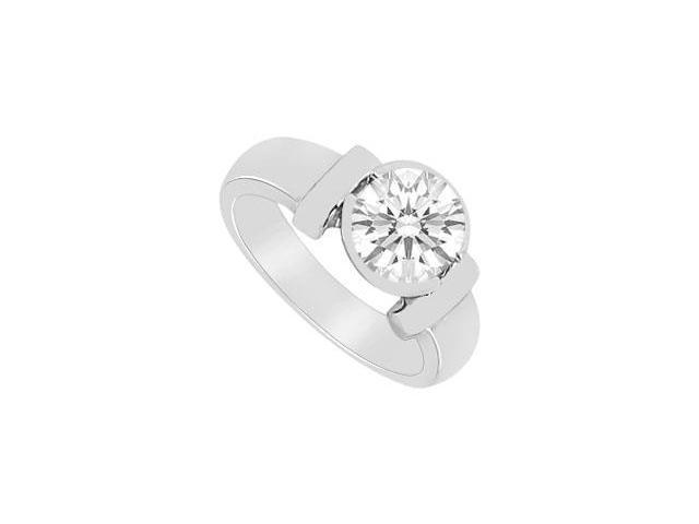 Two Carat Solitaire Ring with Triple AAA Quality Cubic Zirconia Bezel Set in 925 Sterling Silve