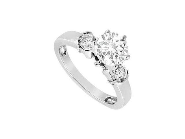 CZ Three-Stone Ring in Sterling Silver 1.50 ct. t.w.