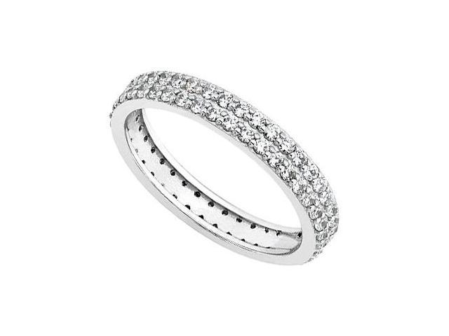 Two Row Diamond Eternity Band in 14kt White Gold 0.75.ct.tdw.