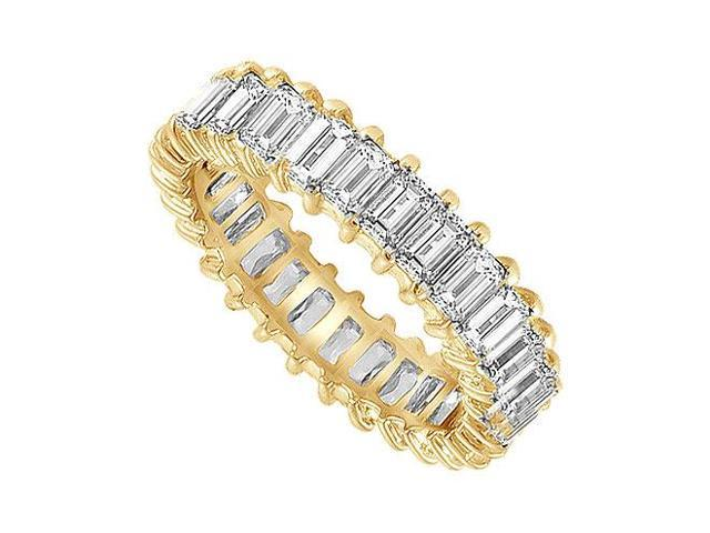 Diamond Eternity Band  18K Yellow Gold  4.00 CT Diamonds