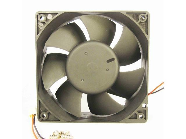 120mm 38mm Case Fan 24V 108CFM Cooling Ball Brgs 2 Wire 4 Screws 338a*