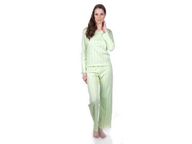 Hering Women's Long Sleeve Cotton Pajama Set Style 7675