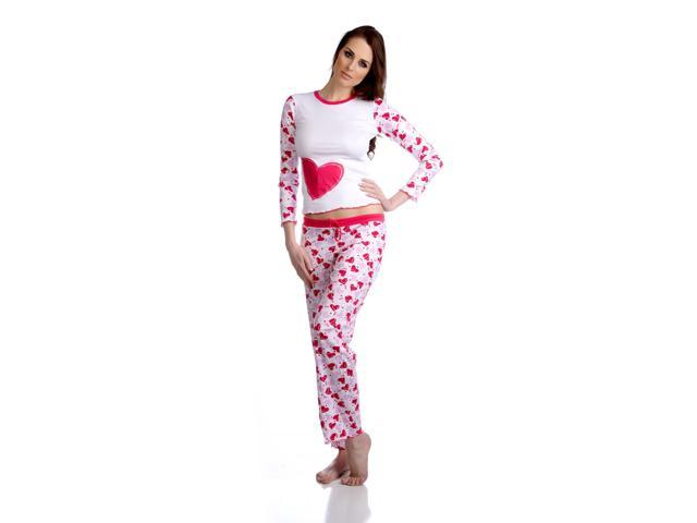 Hering Women's Heart Long Sleeve Pajama Set Style 7661
