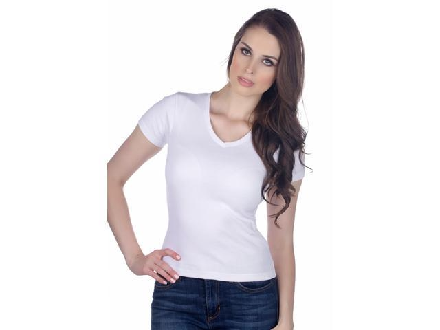 Hering Women's Cotton V-Neck T-shirt Style 02A5