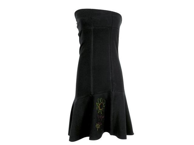 Hering Women's Strapless Dress Style 64GG-BLK-L