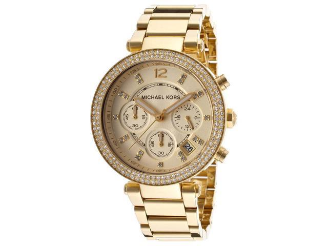 Michael Kors MK5354 Parker Glitz Chronograph Gold Tone Women's Watch