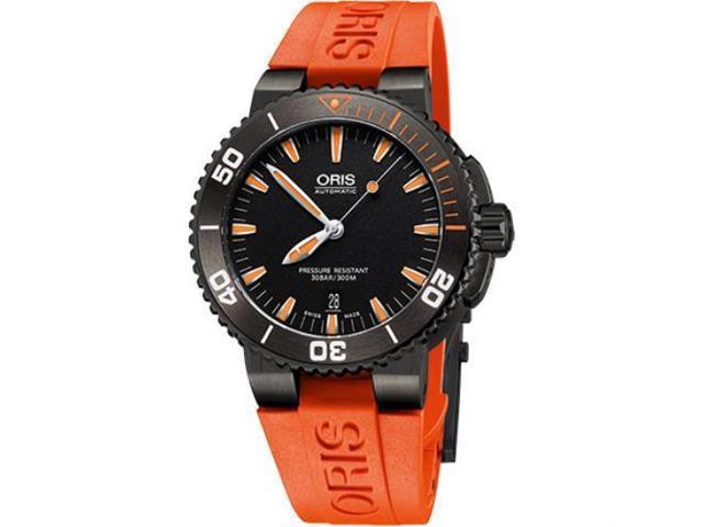 Oris Aquis Date 43 mm Steel/Rubber Men's Watch 733-7653-4154RS - Aquis ...