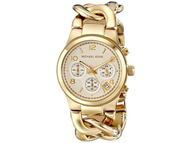 Michael Kors MK3131 Runway Twist Chronograph Gold-tone Women's Watch