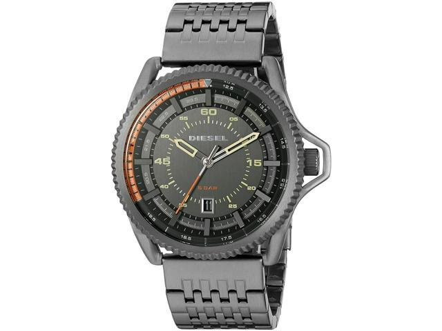 Men's Gunmetal Diesel Rollcage Stainless Steel Watch DZ1719