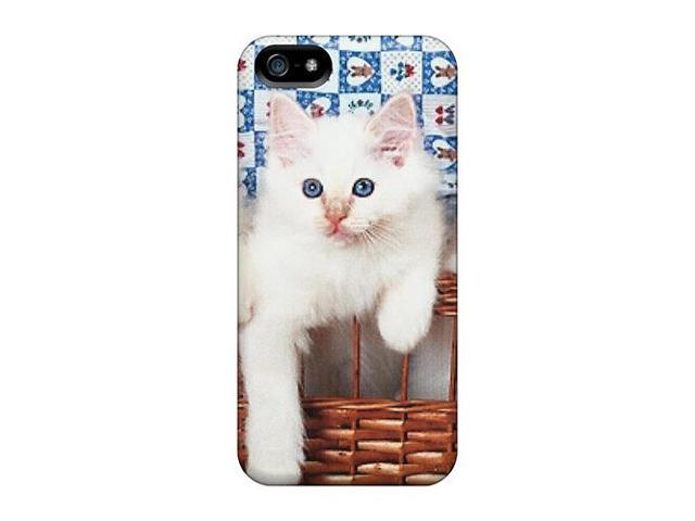 Premium [Nga1162Qzdj]three White Kittens In A Basket Case ...