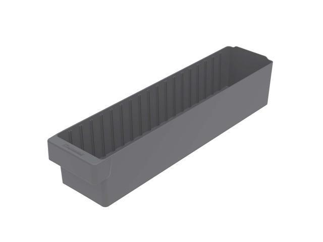 Akromils Akrodrawer Grey 6 Pack - 23.87x 5.56x 4.62
