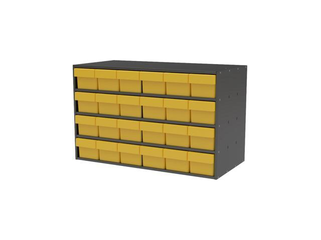 Home Plastic Storage Textured Charcoal Cabinet with 31168 Yellow