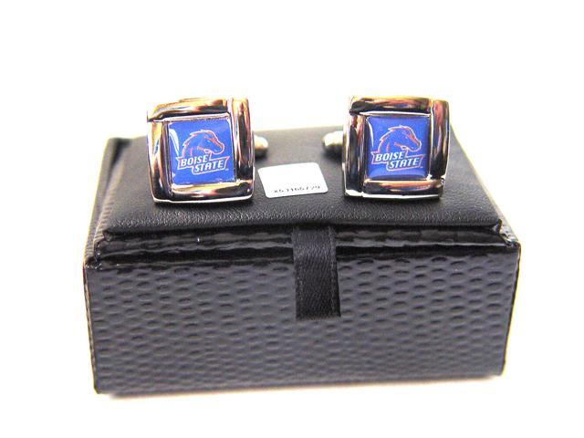 NCAA Boise State Broncos Square Cufflinks With Square Shape Engraved Logo Design Gift Box Set