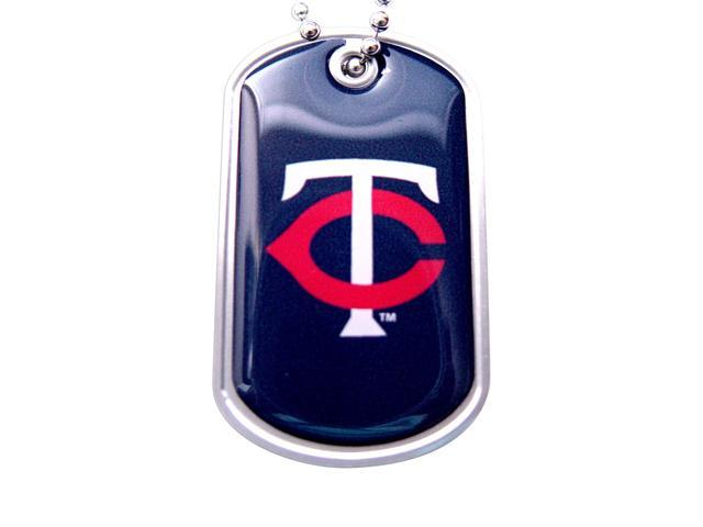 Minnesota Twins Dog Tag Domed Necklace Charm Chain