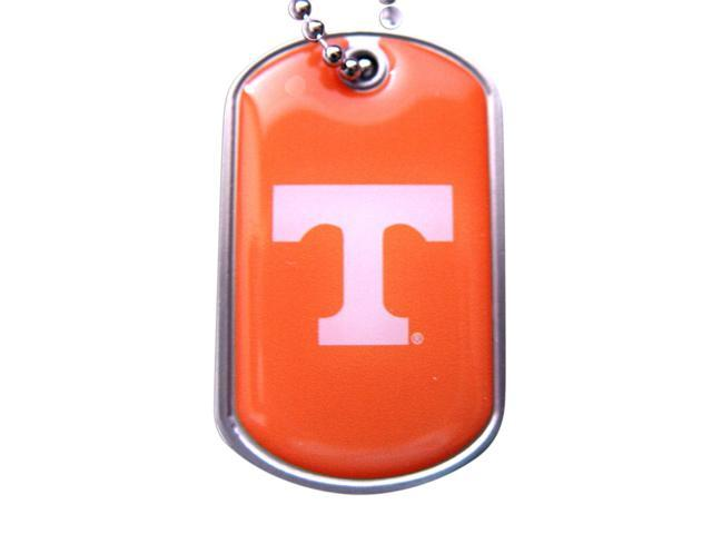 Tennessee Volunteers Vols Dog Tag Domed Necklace Charm Chain Ncaa