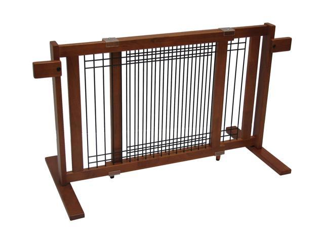 Crown Pet 21-Inch Freestanding Pet Gate with Security Arms - Small Span