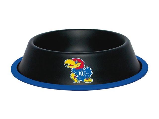 Hunter Team Logo Kansas Jayhawks Dog Bowl-Stainless