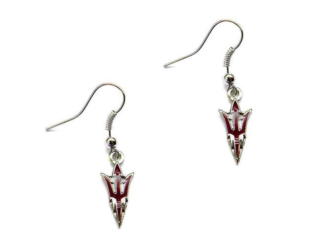 NCAA Arizona Sun devils Team Fork Dangle Earring Set Charm Gift