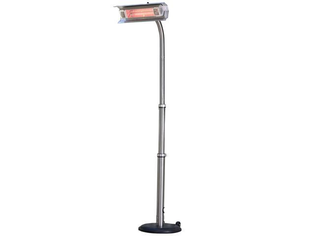 WT Living Stainless Steel Telescoping Offset Pole Mounted Infrared Patio Heater