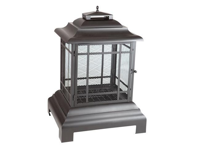 WT Living Rectangle Pagoda Patio Fireplace