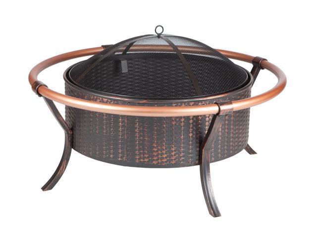 WT Living 37 Copper Rail Firepit - Antique Bronze