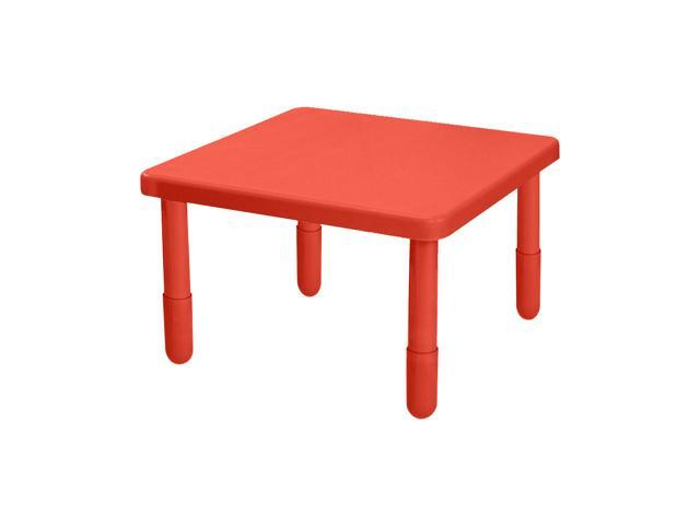 Angeles Kids Preschool Large Square Value Table Candy Apple Red 22