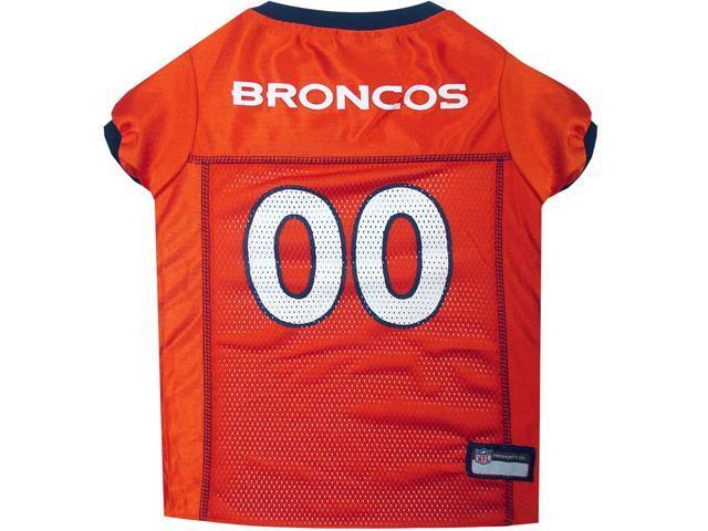 Pets First Sports Team Logo Denver Broncos Dog Jersey - Orange, Small