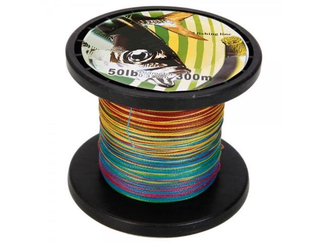 Fishing Line Spool 300M 0.37MM 50LB Colorful