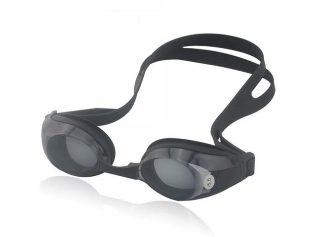 550-Degree Adults Shortsighted Swimming Goggles Glasses Black