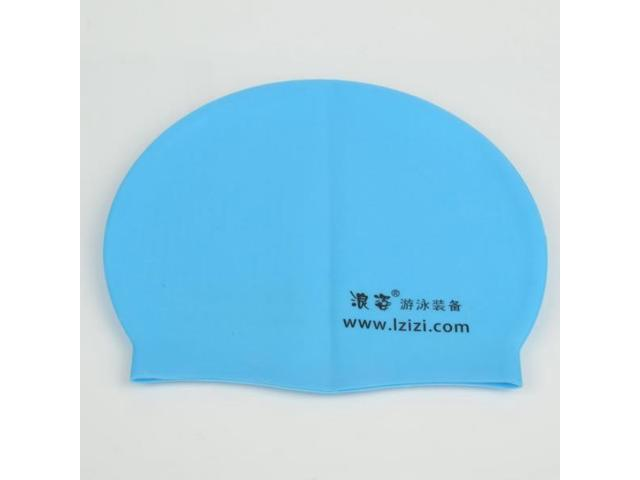 Small Character Pattern Silicone Swimming Cap Blue