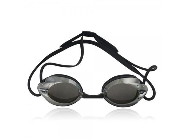 Durable Swimming Accessory Coated Swimming Goggles Black