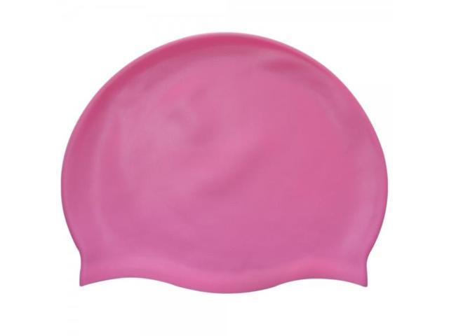 Pure Color Silicone Adult Swimming Cap Pink