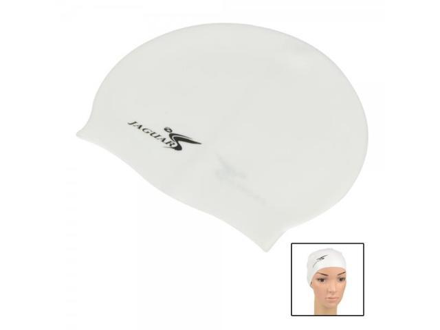 SC General Style Single-color Earflap Swimming Cap SC301 White