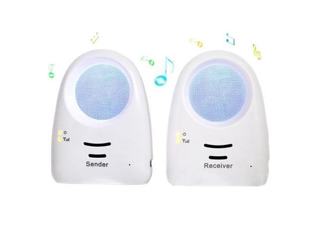real time voice activated baby monitor including a transmitter and a receiver blue. Black Bedroom Furniture Sets. Home Design Ideas