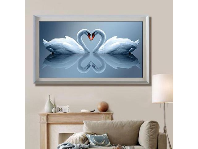 50x28cm DIY Handwork Loving Swans Diamond Painting Rhinestone Cross-stitch Kits