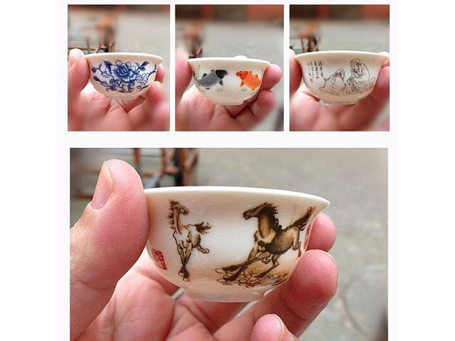 Painting China Tea Cup Chinese Porcelain Kung Fu Tea Ceramic Cup A