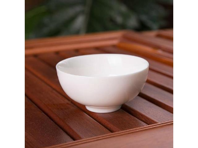 Pure White Ceramic Tea Cup China Kung Fu Tea Cup Chinese Porcelain Tea Ware