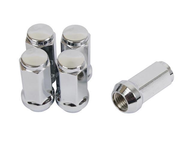 20pc silver chrome bulge lug nuts - 9  16-18 thread size