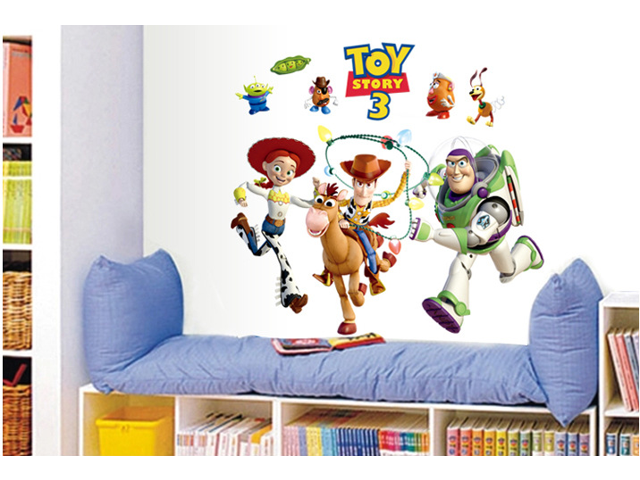 Toy story 3 buzz lightyear wall decals stickers paper for Buzz lightyear wall mural