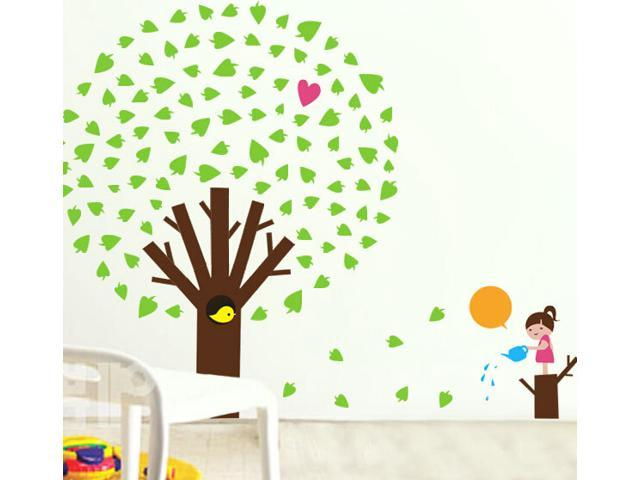 Apple tree home mural wall sticker decal art decor nursery for Apple tree mural