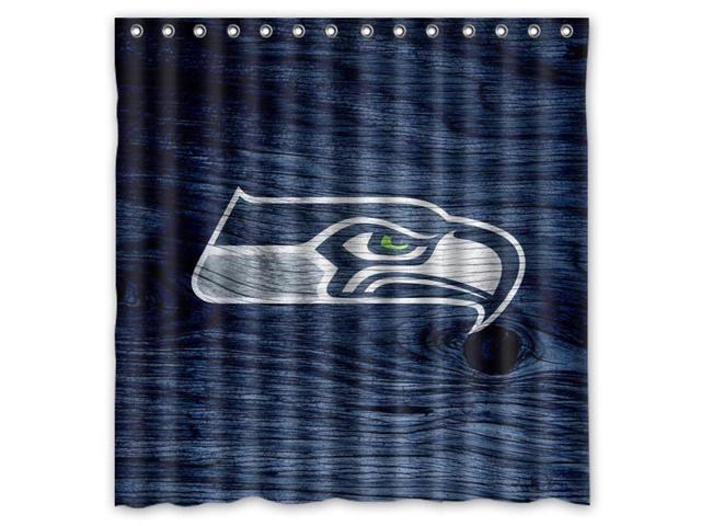 Seattle Seahawks 01 NFL Design Polyester Fabric Bath Shower Curtain 180x180  Cm Waterproof And Mildewproof Shower