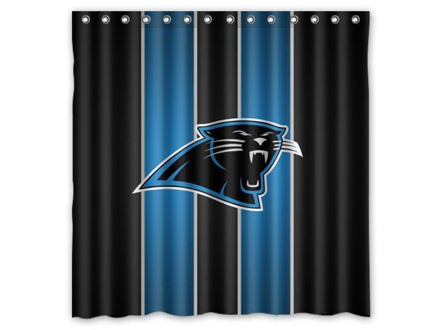 Nice Carolina Panthers 02 NFL Design Polyester Fabric Bath Shower Curtain  180x180 Cm Waterproof And Mildewproof Shower